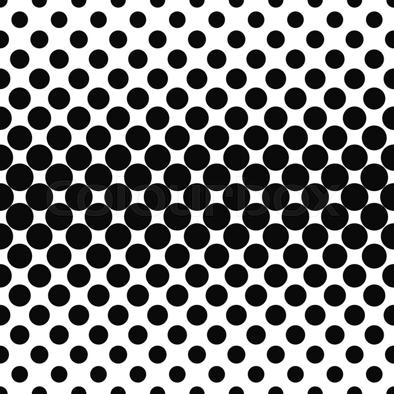 Repeating Black White Dot Pattern Vector 16207572 on Press The Dots