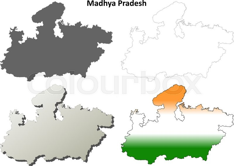 Madhya Pradesh blank detailed outline ... | Stock vector ... on jharkhand state map, gujarat state map, orissa state map, bihar state map, haryana state map, chhattisgarh state map, kerala state map, assam state map, tamil nadu state map, telangana state map, bengal state map, maharashtra state map, karnataka state map, punjab state map, uttaranchal state map, andhra state map,