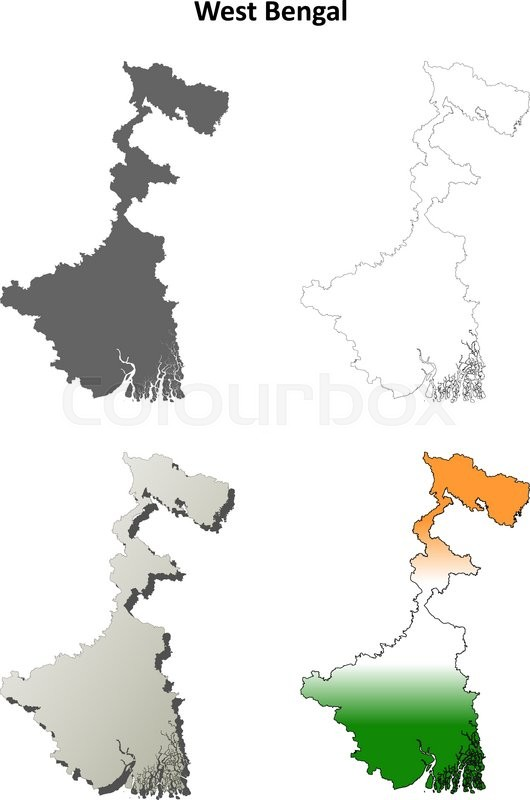West Bengal Blank Detailed Outline Map Set Stock Vector Colourbox - Blank map of the west