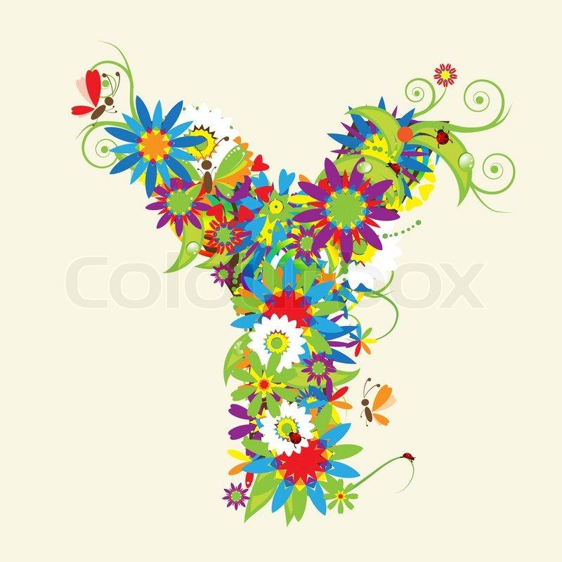 Alphabet Letter Designs Art: Wallpaper, Swirl, Butterfly