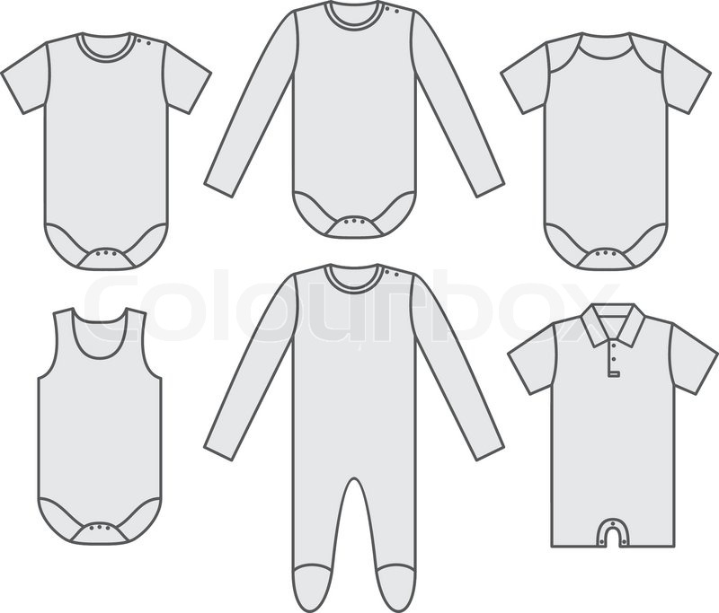 03aaef87f Set of the baby shirts. Vector ...