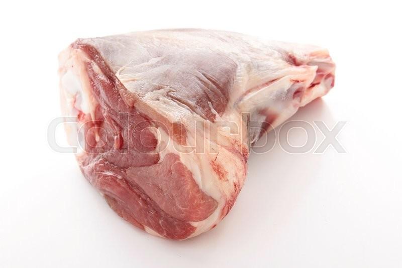 Raw lamb cuts, stock photo