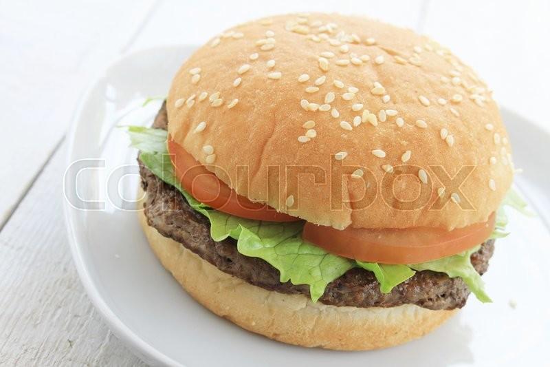 Burger meal, stock photo