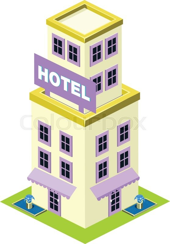 vector isometric hotel building icon infographic elements stock rh colourbox com hotel victor miami hotel vector image