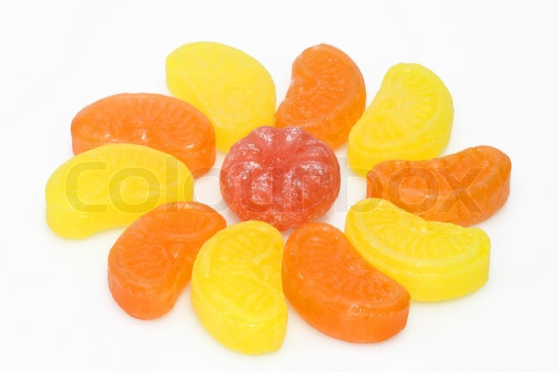 Stock image of 'Sweet colorful sugar candy on bright background'