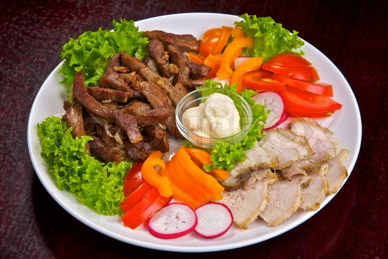 kød og grøntsager