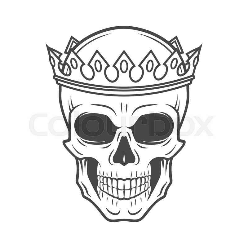 The Crown Illustration Tattoo Design