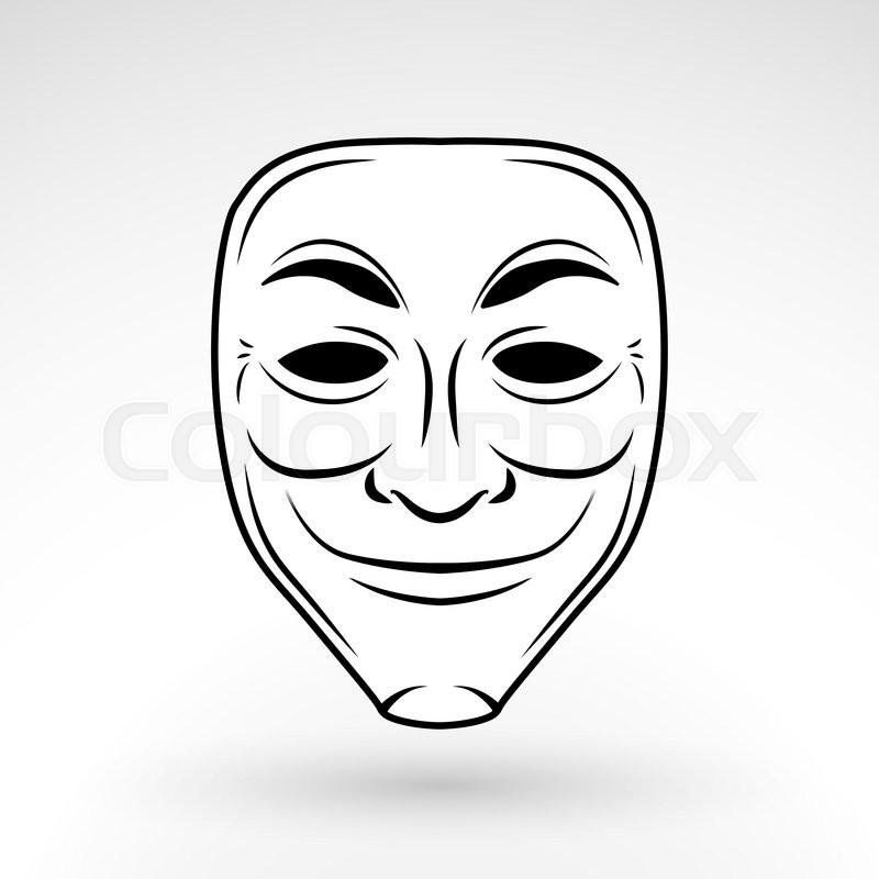 anonymous mask vector icon hacker stock vector colourbox anonymous mask vector icon hacker
