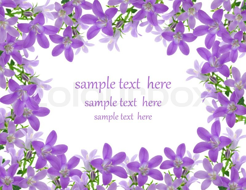 Blomster ramme med plads til tekst stock billede colourbox
