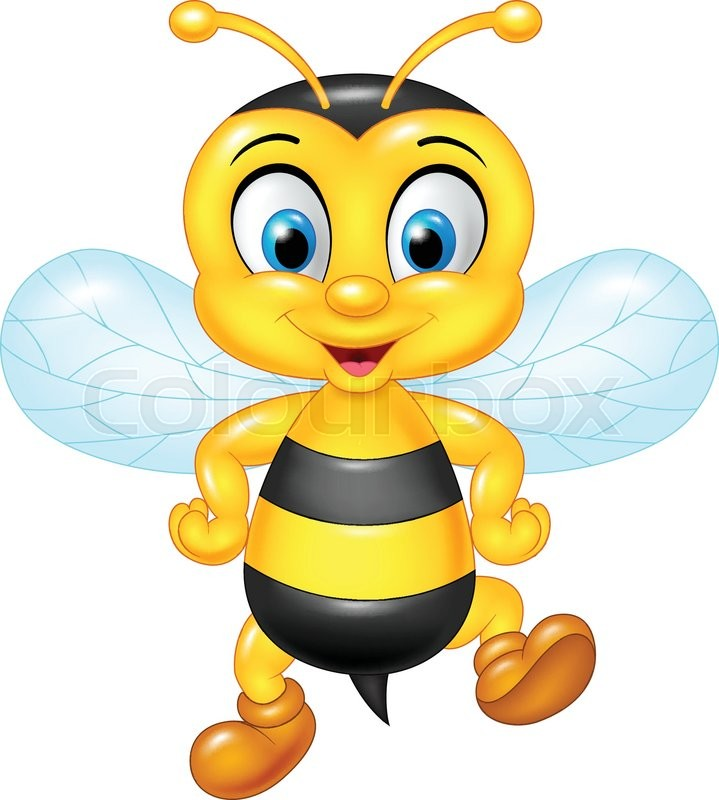 vector illustration of cartoon funny bees isolated on apa clipart apa clipart citation example