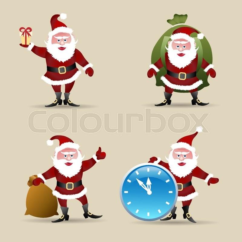 Weihnachten, weihnachtsmann, abbildung | Vektorgrafik | Colourbox