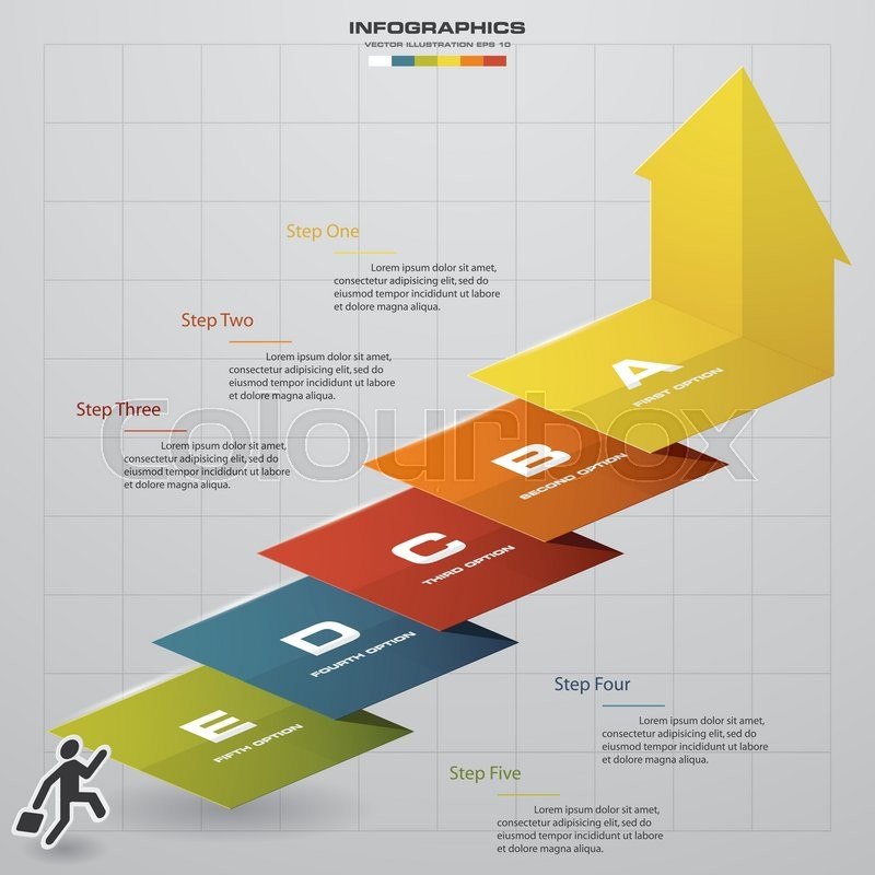 Abstract business chart 5 steps diagram templategraphic or website abstract business chart 5 steps diagram templategraphic or website layout vector step by step idea vector ccuart Choice Image