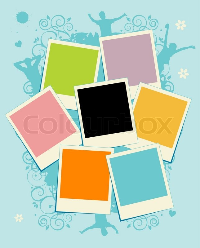 Frame Collage Vector Stock Vector of 'collage of
