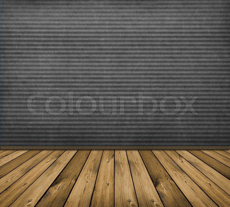 Vintage grau Interieur mit Holzboden  Stock-Foto  Colourbox