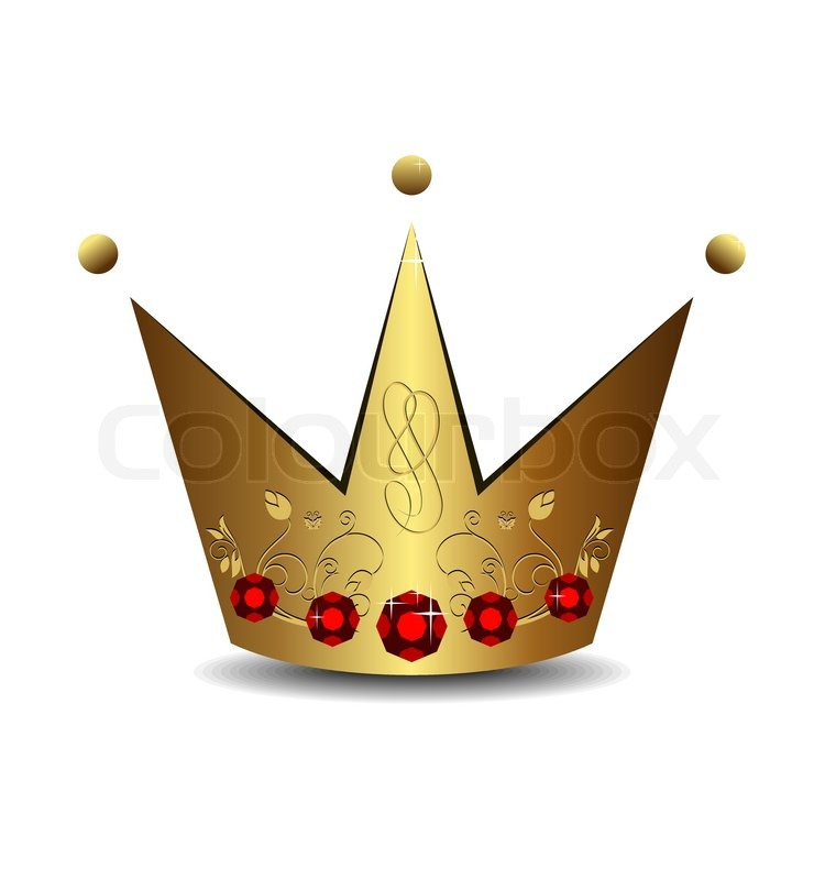 Realistic Illustration Of Royal Gold Crown Isolated On White