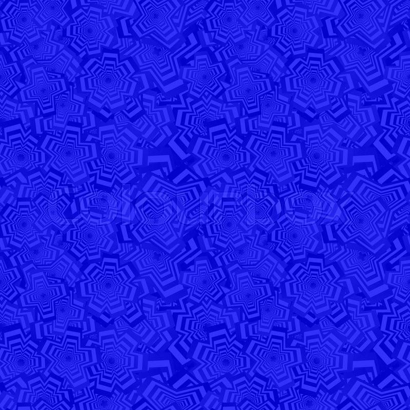 Blue Color Abstract Seamless Polygon Stock Vector
