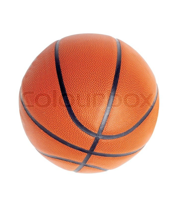 Ball for game in basketball of orange on white background | Stock ...