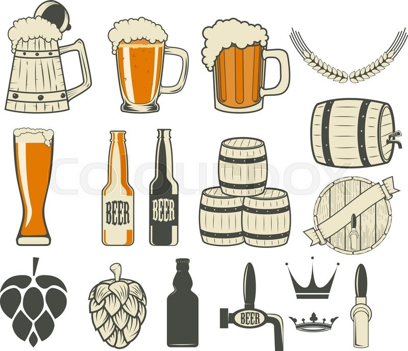 Beer Label Generator Set Of Icons And Design Elements Vector Illustration