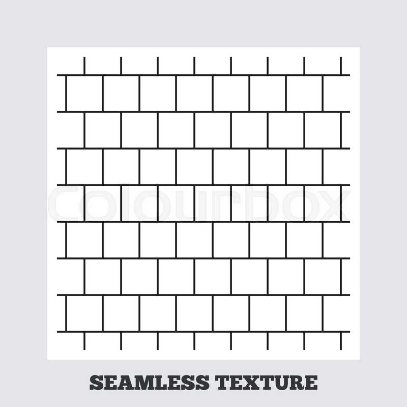 Seamless Texture Mosaics Square Tiles Lines Stripped Geometric Pattern Modern Repeating Stylish Flat On White