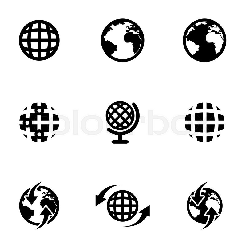 Vector black world map icon set world map icon object world map stock vector of vector black world map icon set world map icon object gumiabroncs