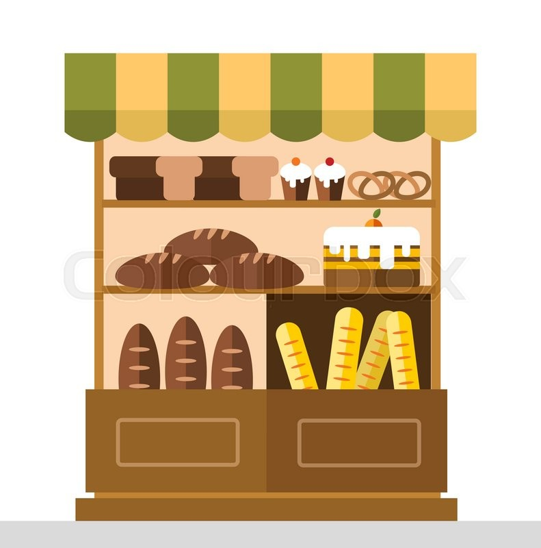 Bakery Storefront Clipart