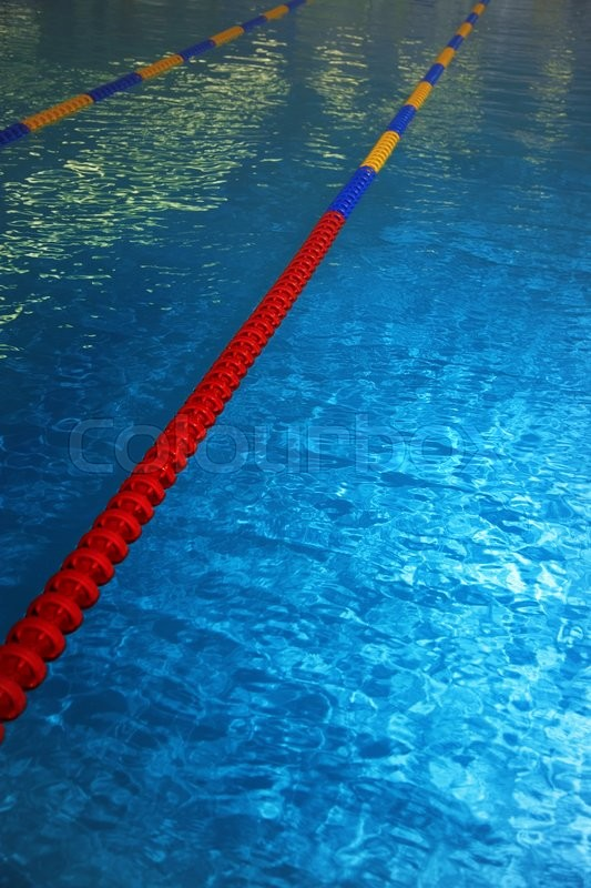 Swimming Pool With Lane Markers Vertical Photo Stock