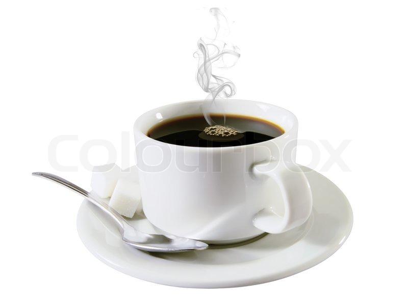 hot coffee white background - photo #6