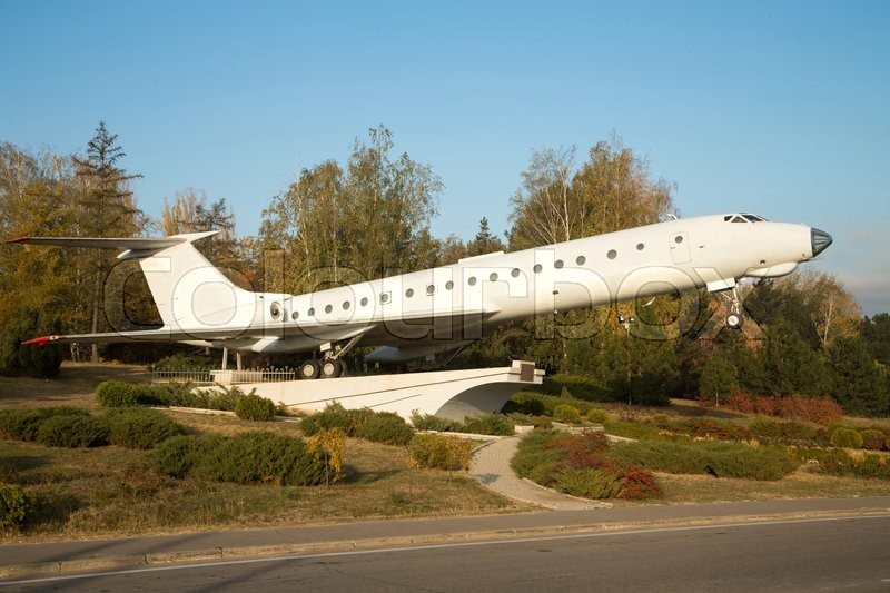 Monument Of Tu-134 Plane At The Entrance To Chisinau