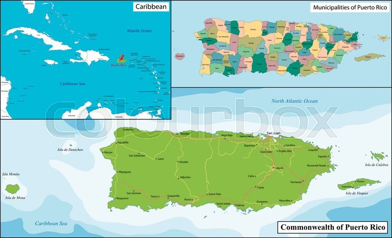 Puerto Rico, officially the ...   Stock Vector   Colourbox