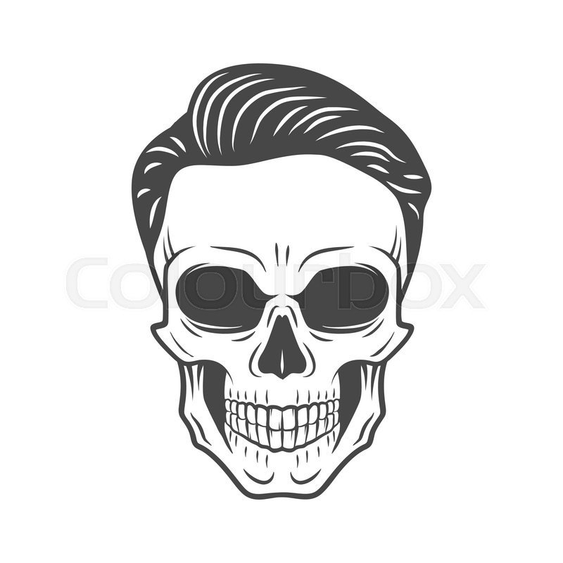 Skeleton head logo black the image kid for Shop drawing log template