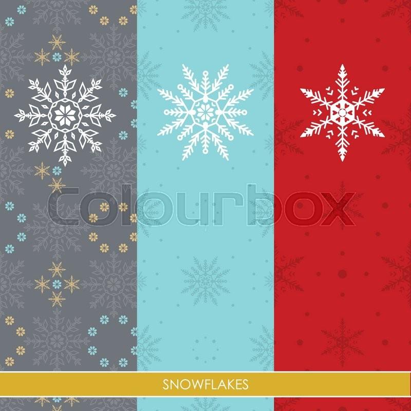Schneeflocke, tapete, blau | Vektorgrafik | Colourbox