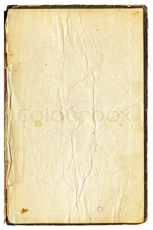 Page Of The Old Book On White Background