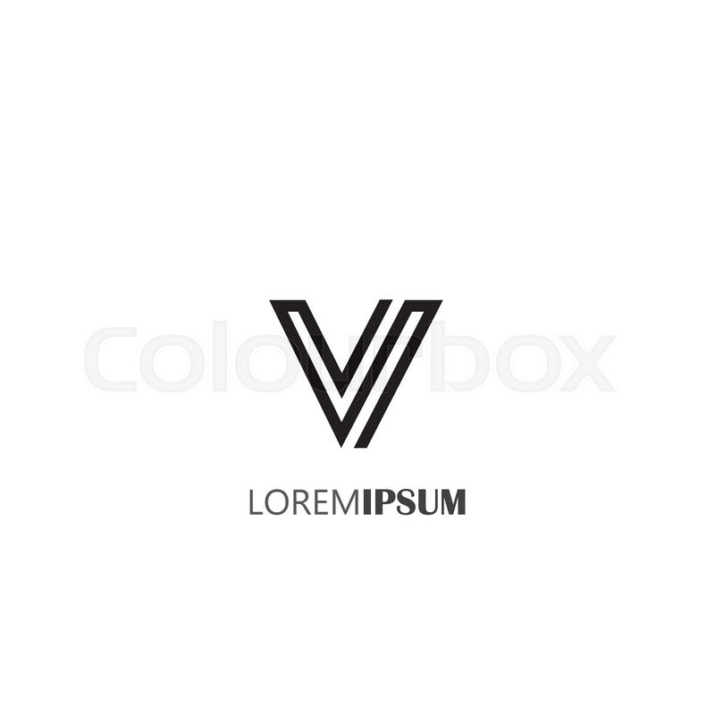 Vector Logo Design Icon Of Creative Line Alphabet Symbol Of Letter V