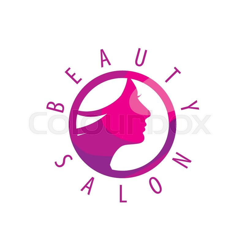 beauty female face logo design cosmetic salon logo design creative rh colourbox com beauty salon logos ideas beauty salon logo images