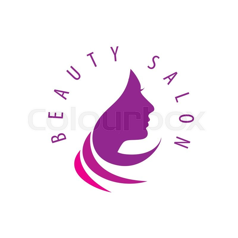beauty female face logo design cosmetic salon logo design creative rh colourbox com beauty salon logos ideas beauty salon logo psd