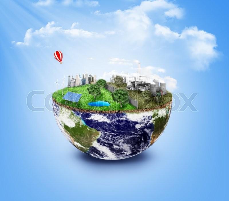 Eco Friendly Green Energy Concept Stock Photo