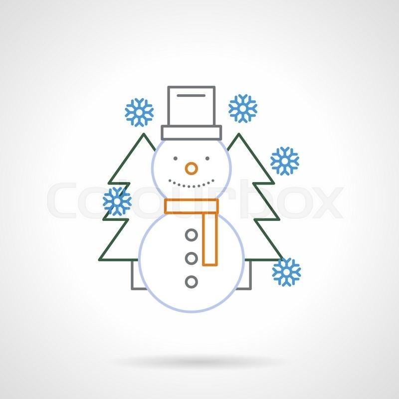 Winter Holidays Symbol Seasonal Outdoors Games Smiling Snowman