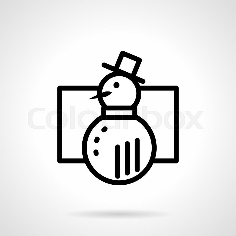 Abstract Snowman With Simple Frame Wintertime Games Winter Symbols