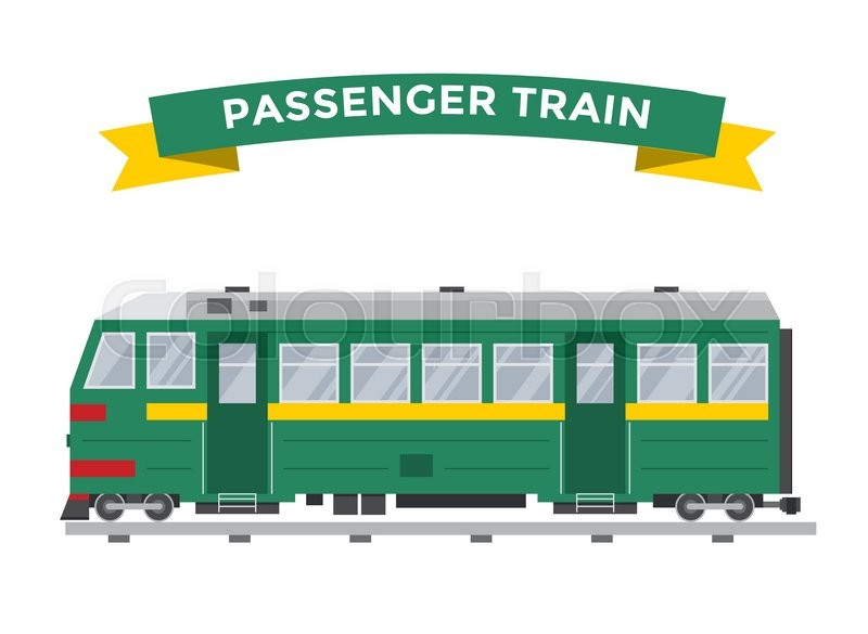 Passenger train vector collection. Trains vector ...