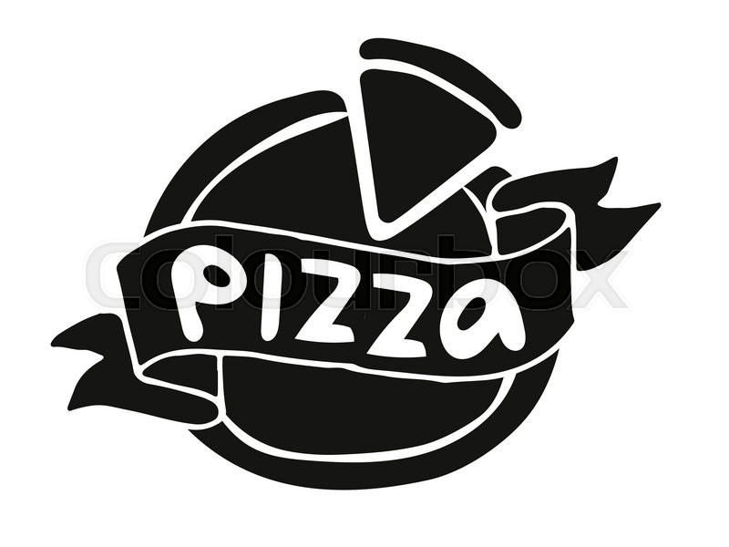 Pizza flat icon logo template. Pizza food silhouette ... | 800 x 600 jpeg 46kB