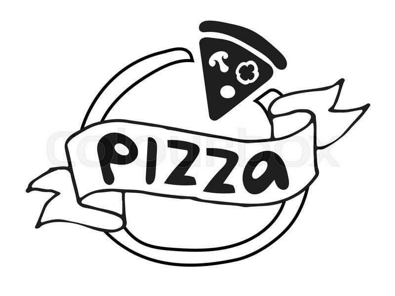 pizza flat icon logo template pizza food silhouette pizza piece rh colourbox com pizza victoria bc pizza vector free