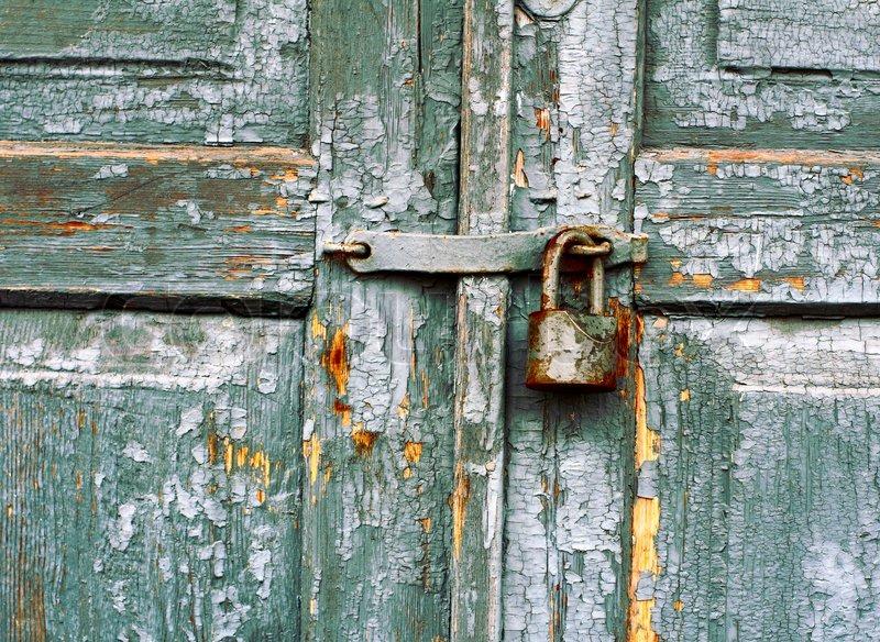 & Old lock on a door | Stock Photo | Colourbox