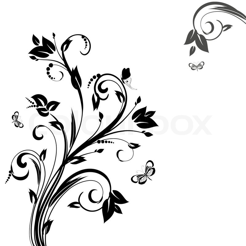 Abstract Floral Pattern Stock Vector Colourbox