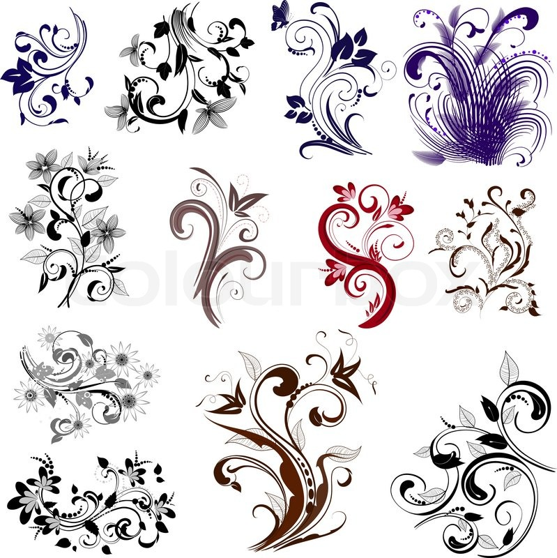 Set Of Different Patterns Stock Vector Colourbox Simple Different Patterns