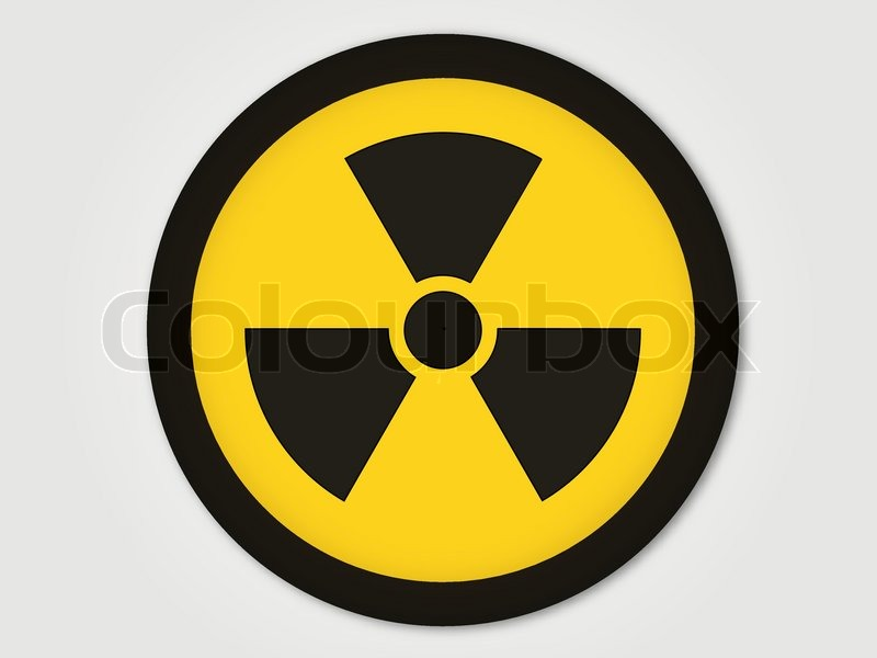 nuclear warning sign stock vector colourbox