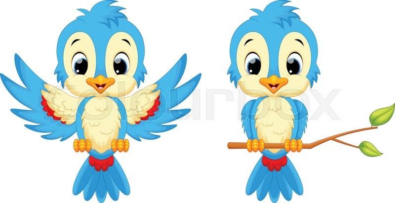 Vector Illustration Of Cute Bird Stock Vector Colourbox