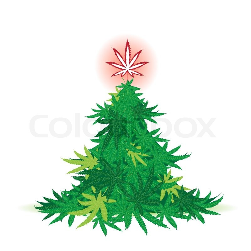 weihnachtsbaum cannabis blatt vektorgrafik colourbox. Black Bedroom Furniture Sets. Home Design Ideas
