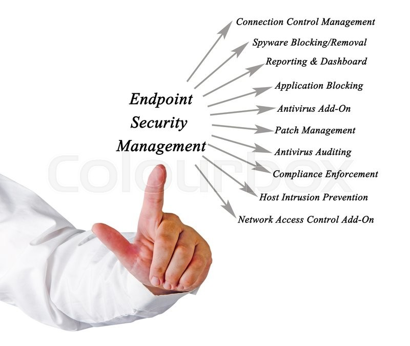 Endpoint Security Management, stock photo