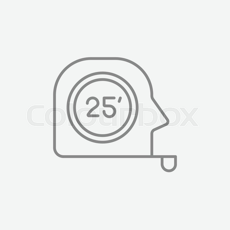 tape measure line icon for web  mobile and infographics