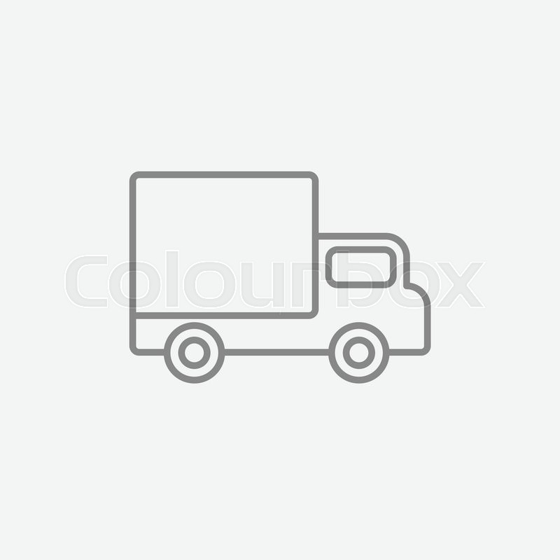 delivery van line icon for web  mobile and infographics